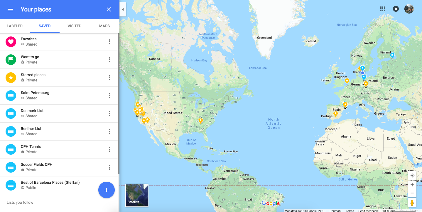 My Custom Google Maps City List #LetsGuide – @5teffan on